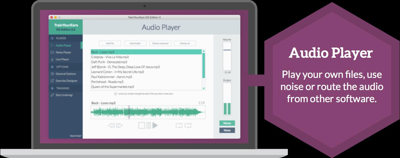 audio player trainyourears