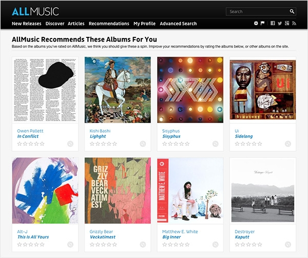 recommendations allmusic