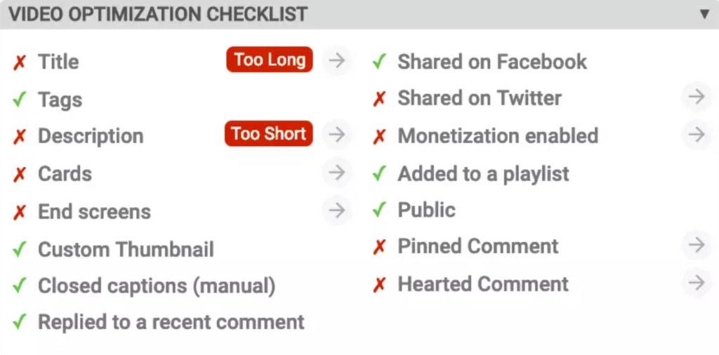 video-optimization-checklist