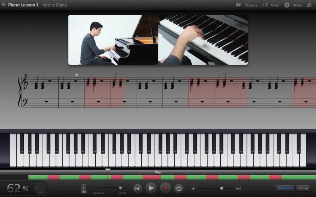 garageband - cours de piano