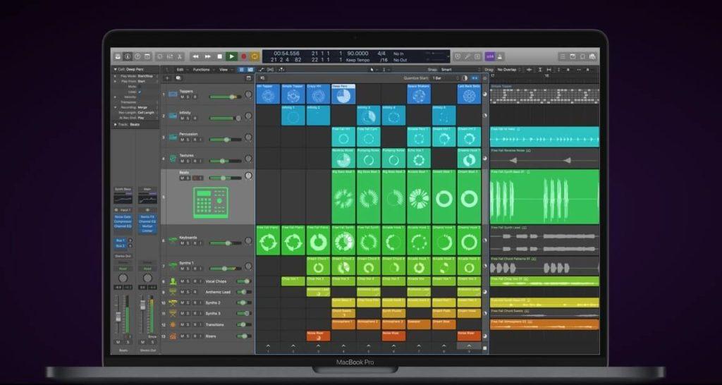 Apple Logic Pro live loops