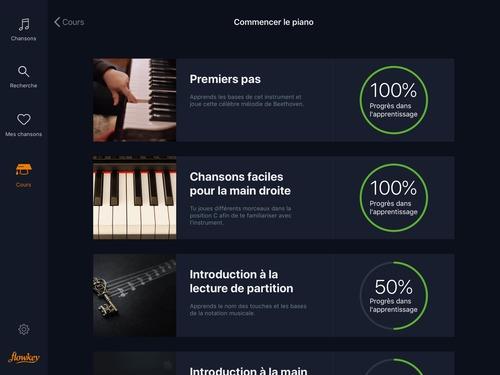 Progresser au piano avec Flowkey